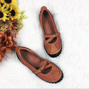 Privo comfort shoes Mary Janes Orange Slip Ons